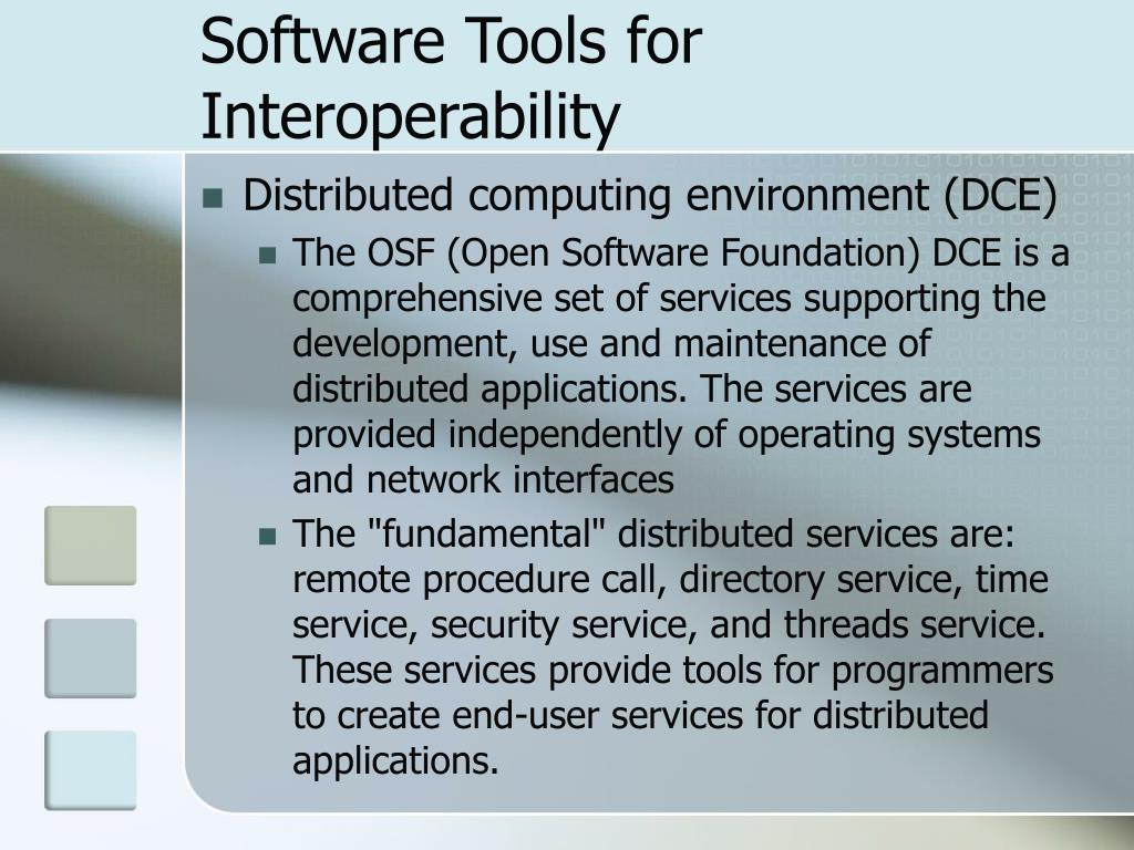 Software Tools for Interoperability