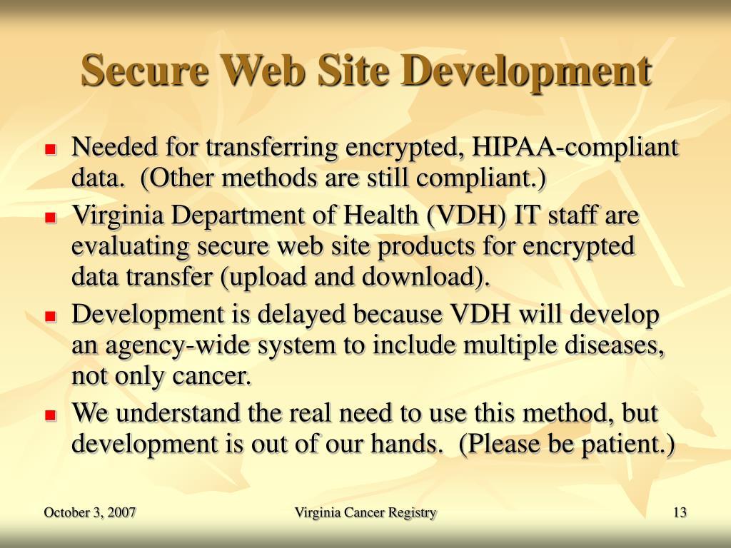 Secure Web Site Development