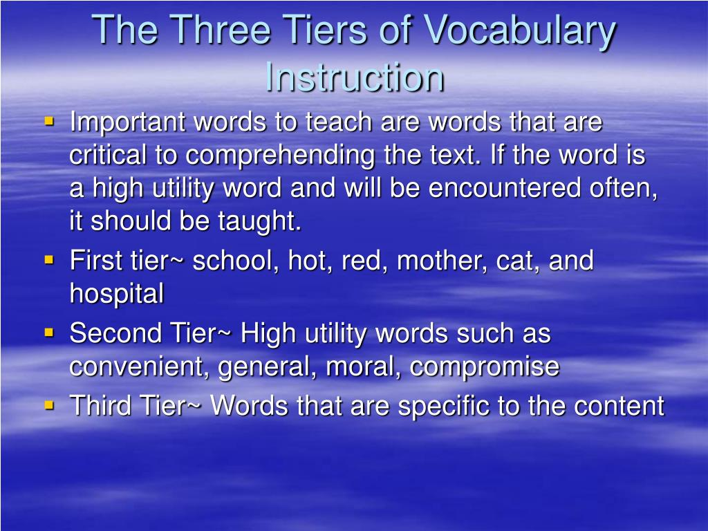 tier 3 vocabulary instruction