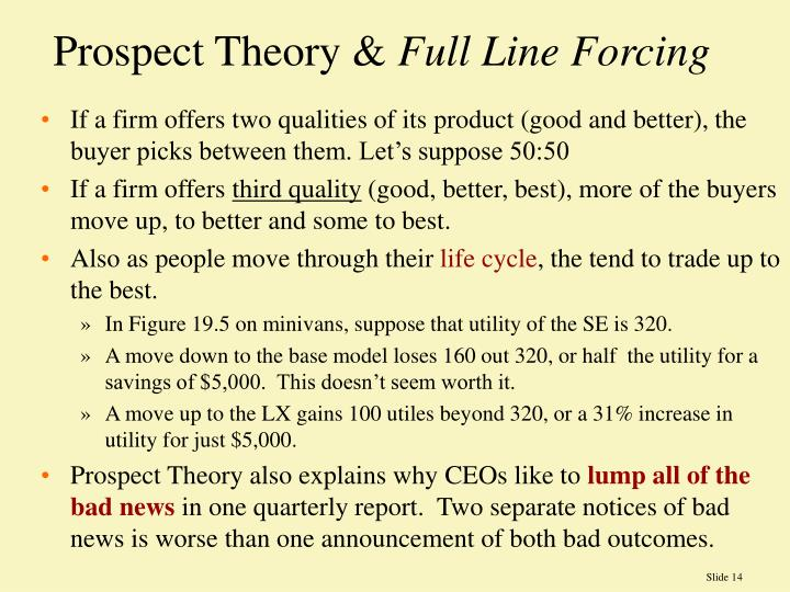 Prospect Theory &