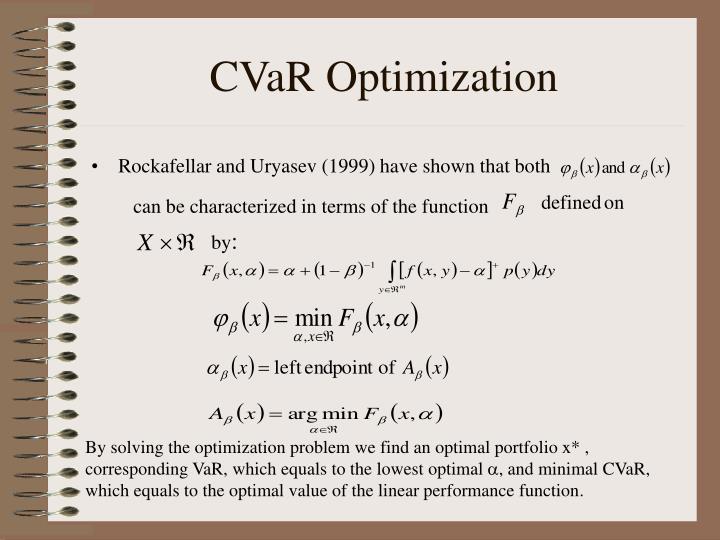 CVaR Optimization