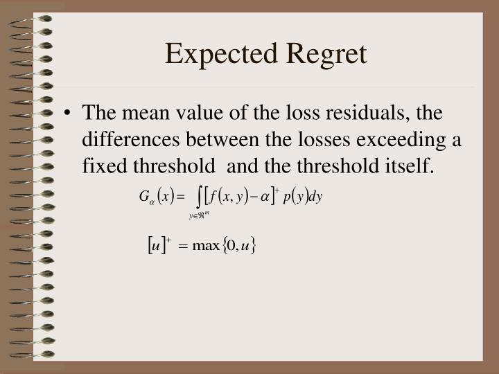 Expected Regret