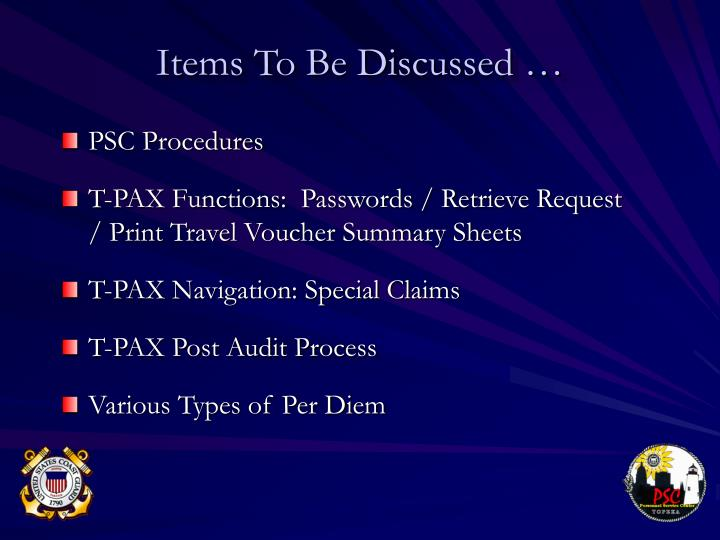PSC Procedures