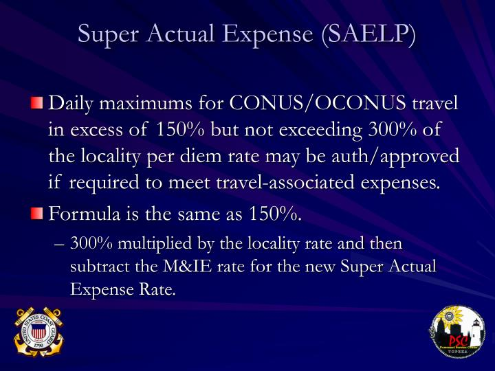 Super Actual Expense (SAELP)