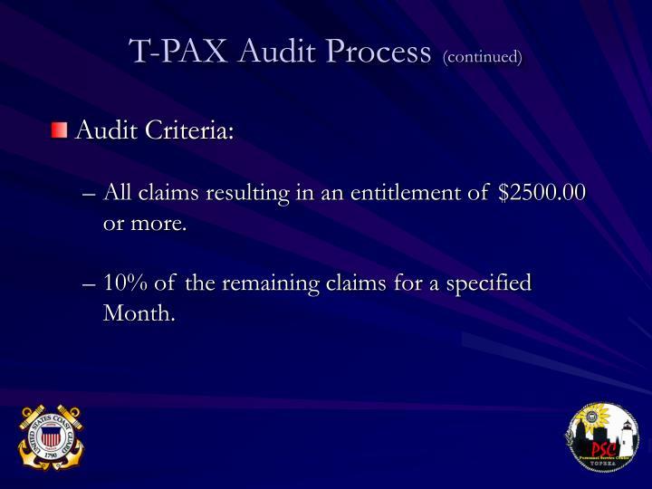 Audit Criteria:
