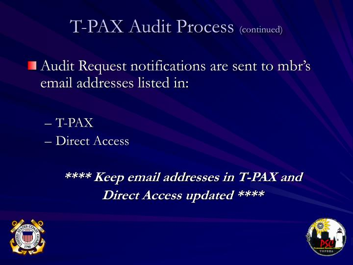 Audit Request notifications are sent to mbr's email addresses listed in: