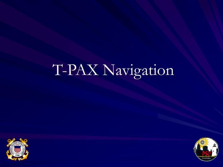 T-PAX Navigation