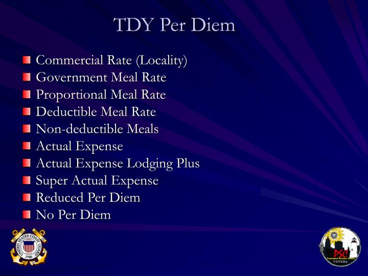 TDY Per Diem