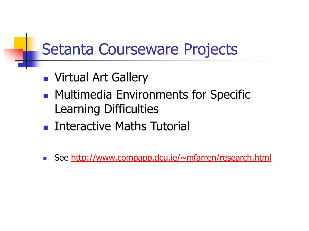 Setanta Courseware Projects