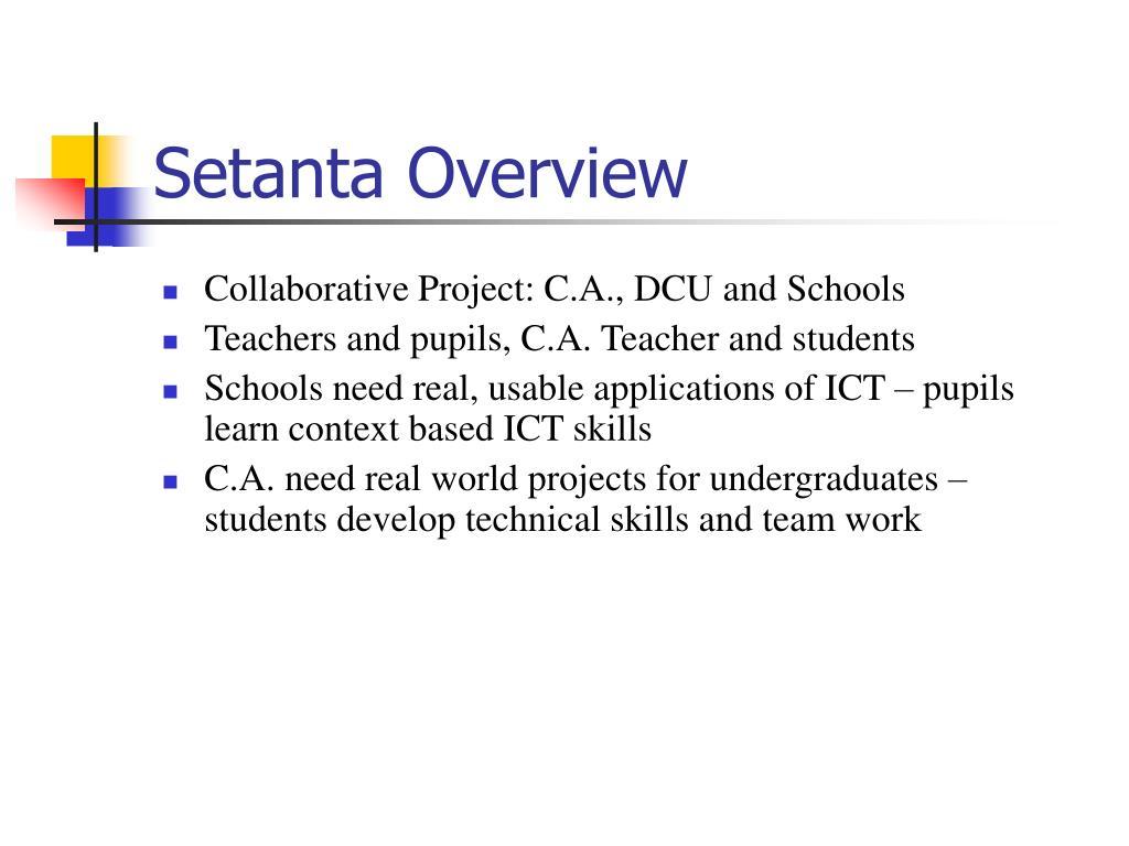 Setanta Overview