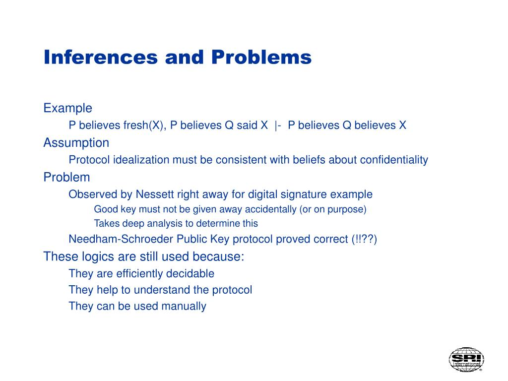 Inferences and Problems