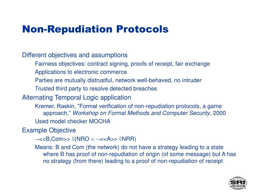 Non-Repudiation Protocols