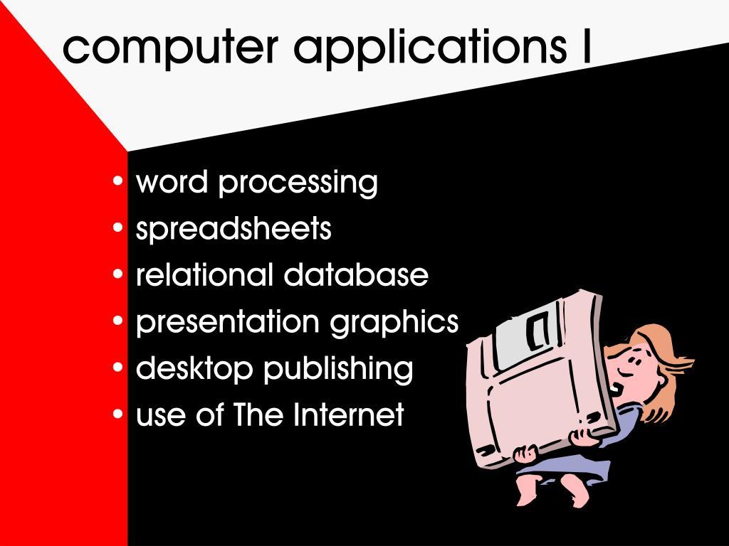 computer applications I