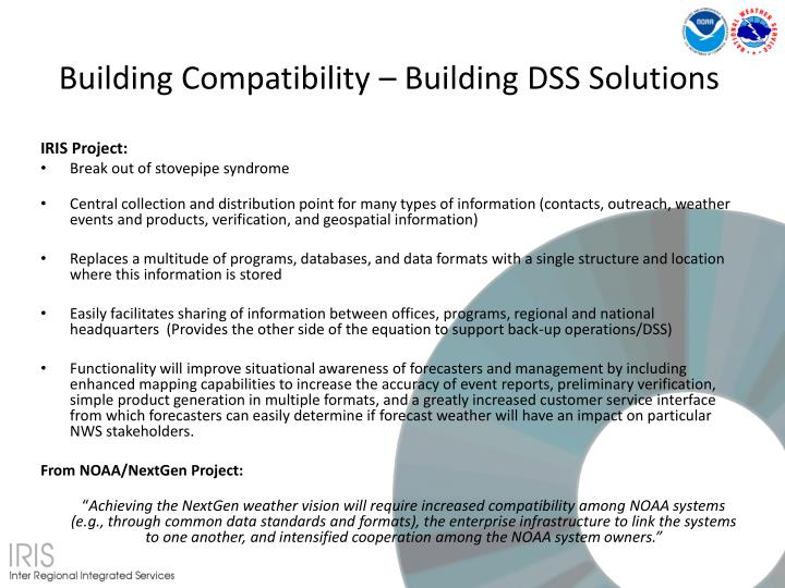 Building Compatibility – Building DSS Solutions