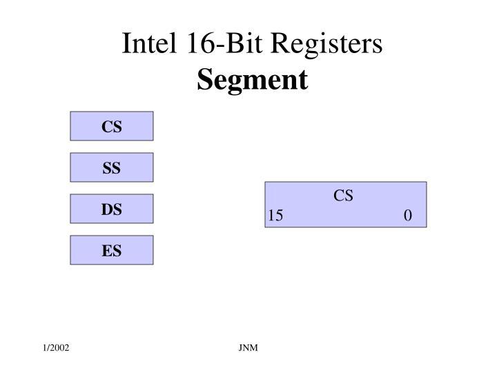 Intel 16-Bit Registers