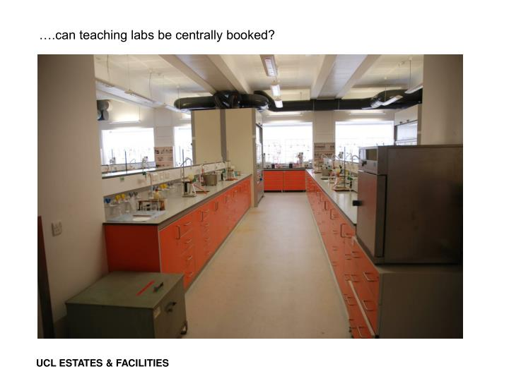 ….can teaching labs be centrally booked?