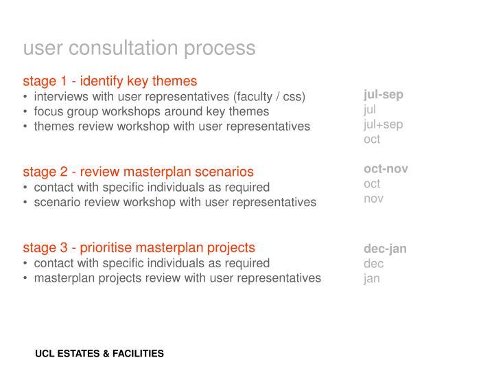 user consultation process