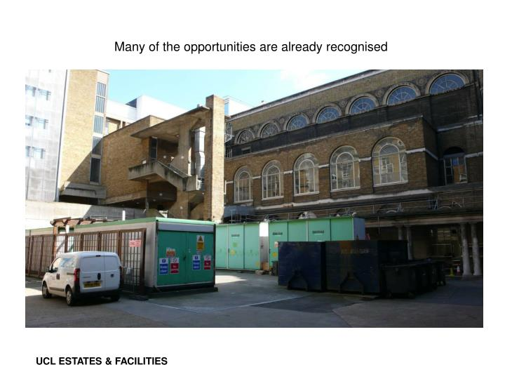 Many of the opportunities are already recognised