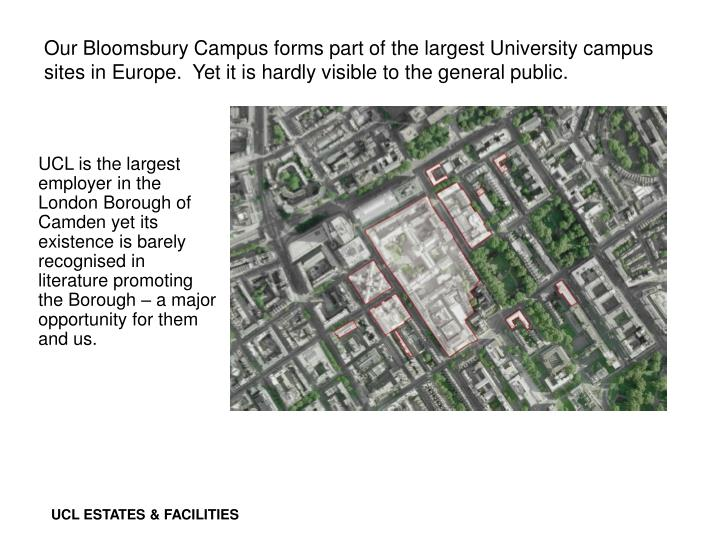Our Bloomsbury Campus forms part of the largest University campus sites in Europe.  Yet it is hardly visible to the general public.