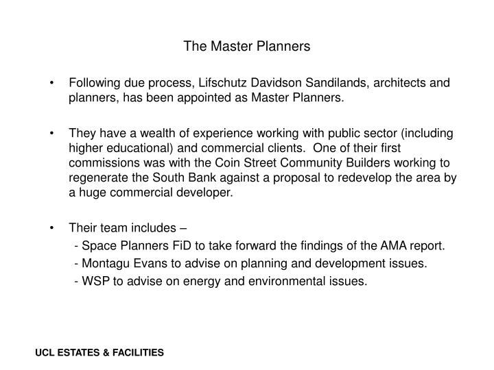 The Master Planners