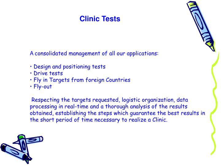 Clinic Tests