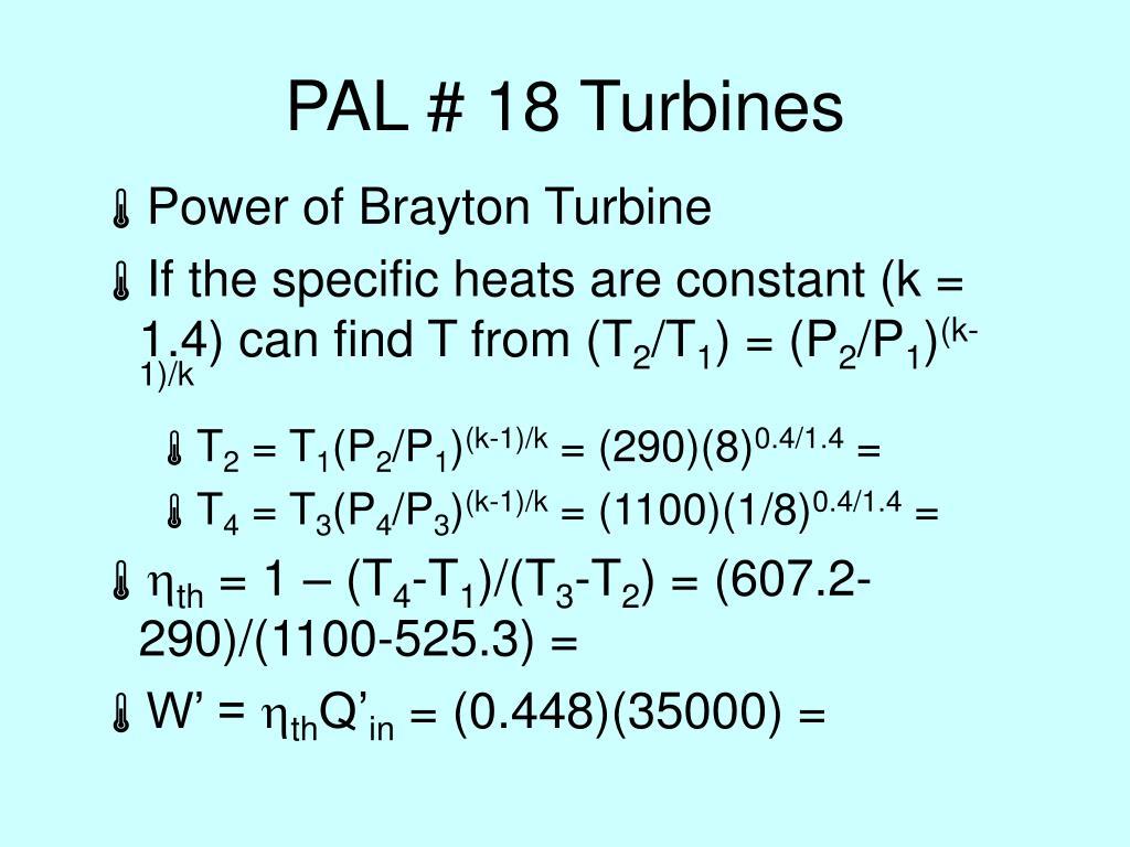 PAL # 18 Turbines
