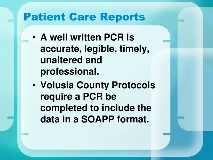 Patient Care Reports
