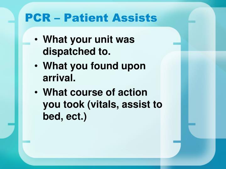 PCR – Patient Assists