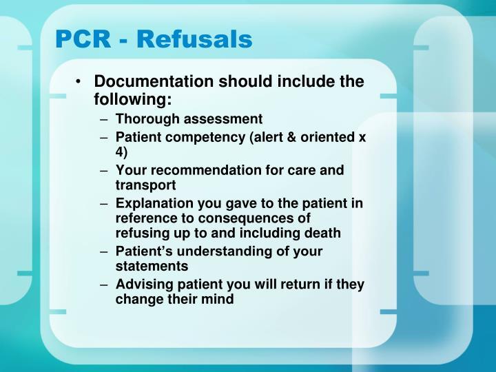 PCR - Refusals