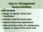 agency management responsibilities
