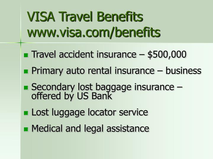 VISA Travel Benefits