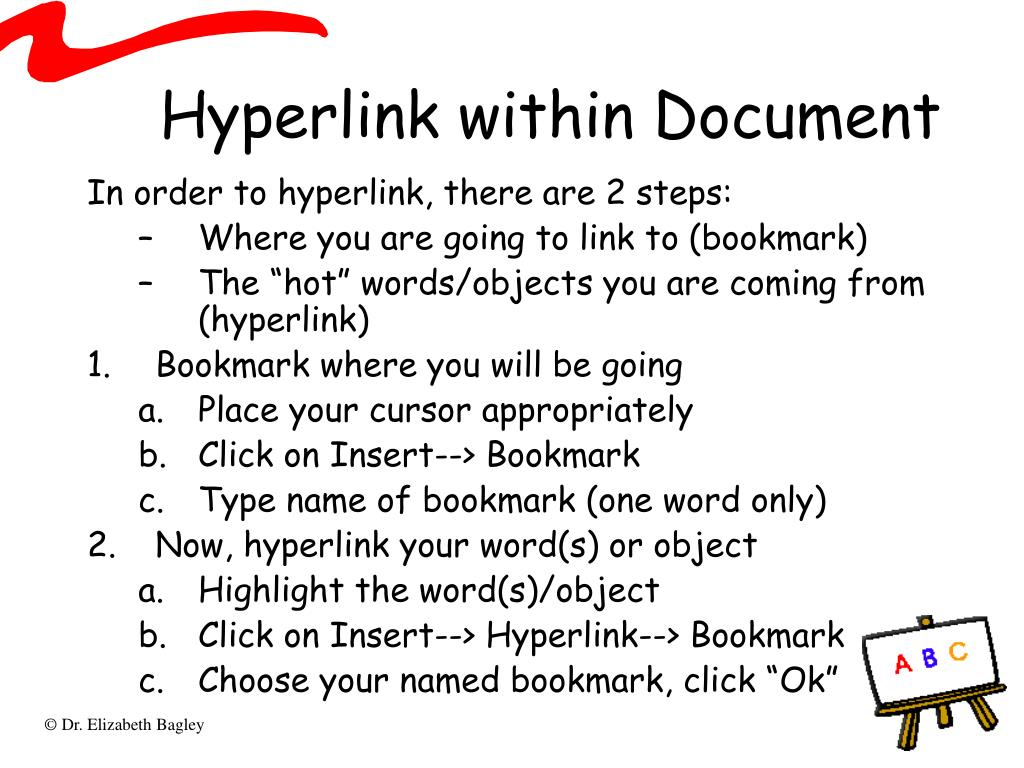 Hyperlink within Document