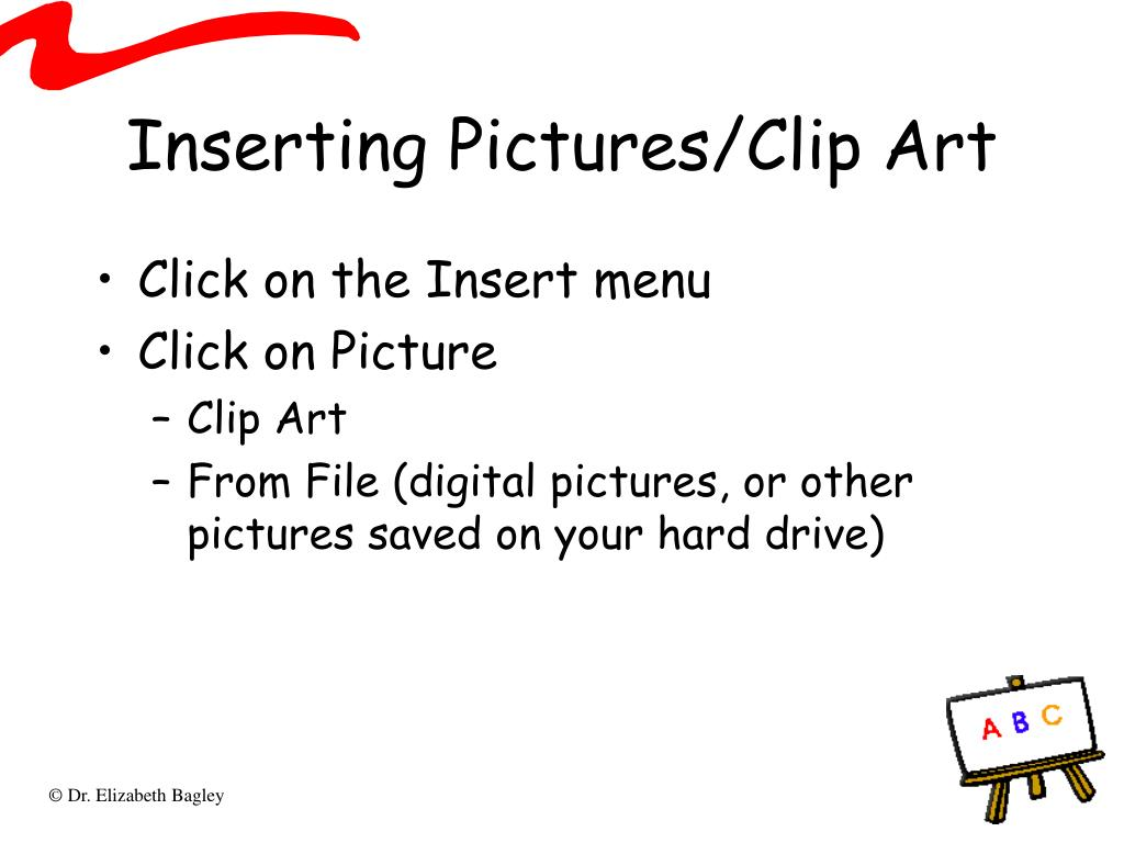 Inserting Pictures/Clip Art
