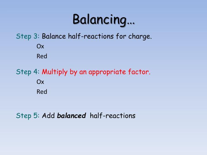 Balancing…
