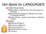 hot spots for languages