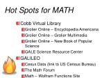 hot spots for math