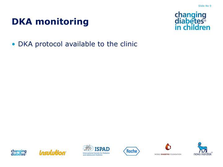 DKA monitoring