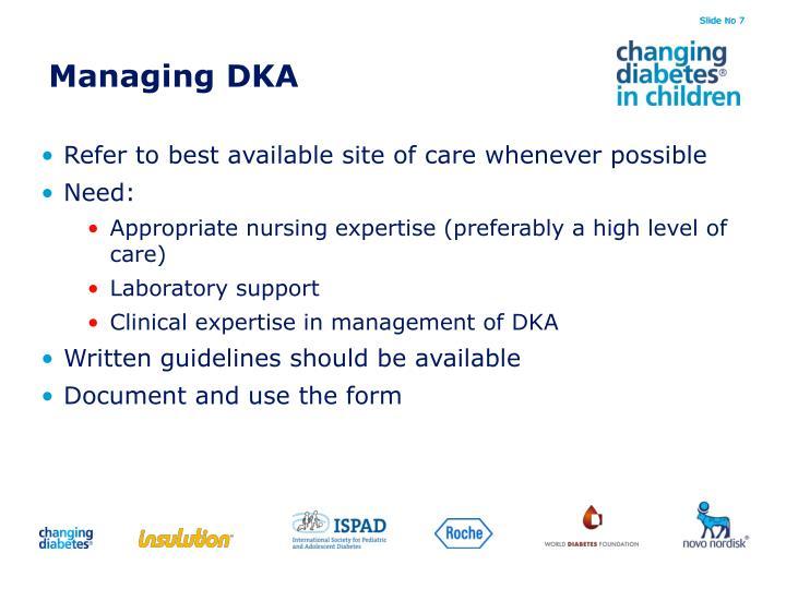 Managing DKA