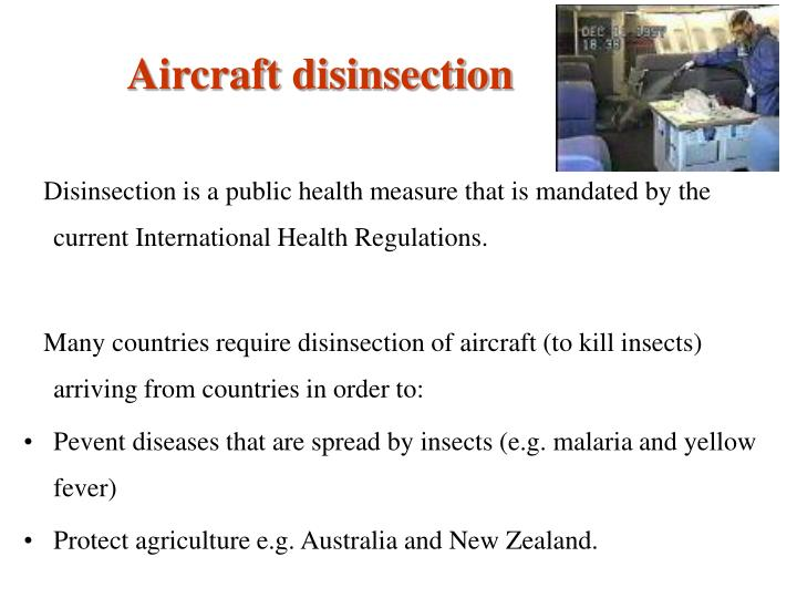 Aircraft disinsection