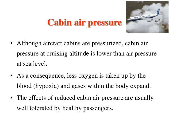 Cabin air pressure