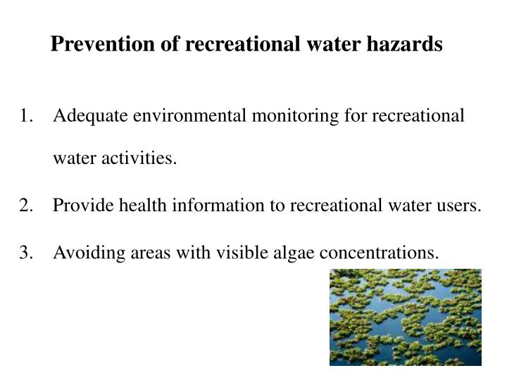 Prevention of recreational water hazards