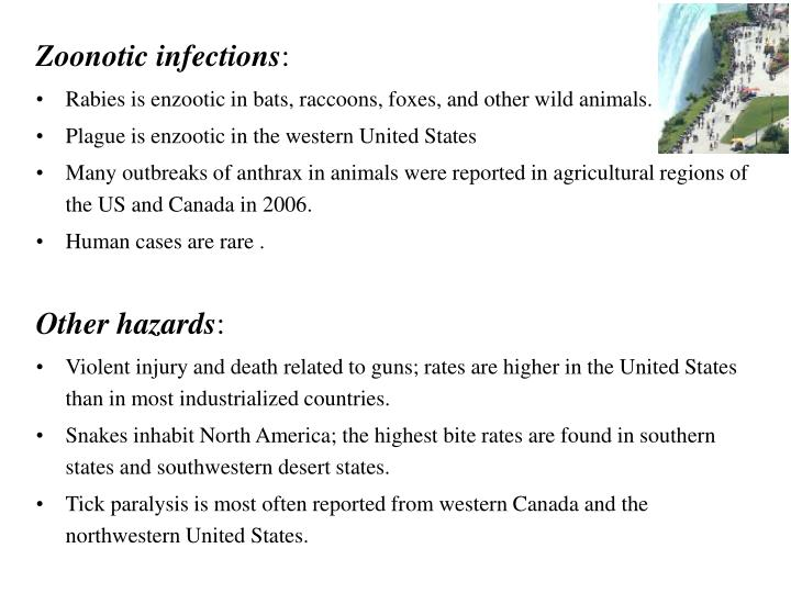 Zoonotic infections