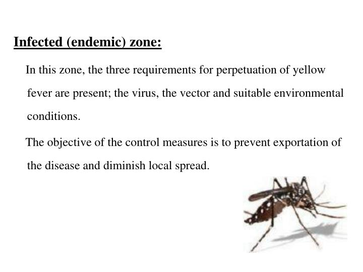 Infected (endemic) zone: