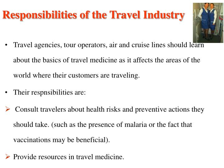 Responsibilities of the Travel Industry