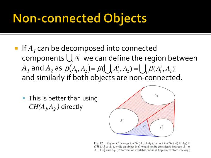 Non-connected Objects