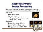macrobenchmark image processing