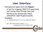 user interface20