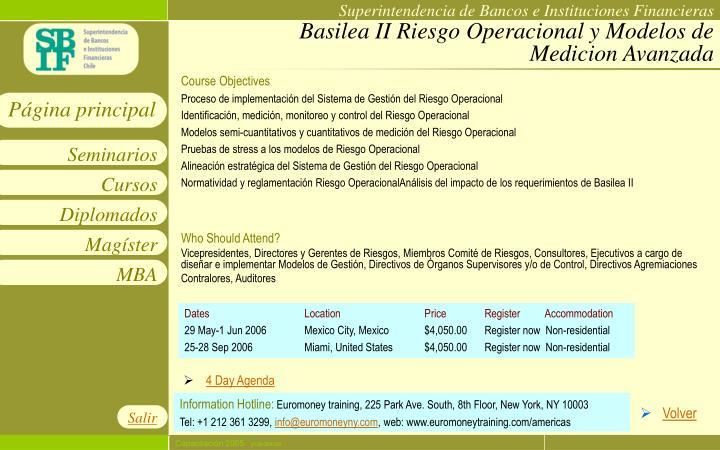 Basilea II Riesgo Operacional y Modelos de Medicion Avanzada
