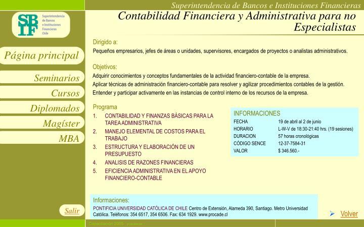 Contabilidad Financiera y Administrativa para no Especialistas