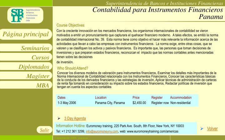 Contabilidad para Instrumentos Financieros Panama